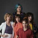 Elísabet Benavent y el reparto de 'Valeria' en la segunda temporada