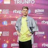 Hugo Cobo en la rueda de prensa de 'OT 2020'