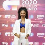 Nia, ganadora de 'OT 2020', posa en la rueda de prensa
