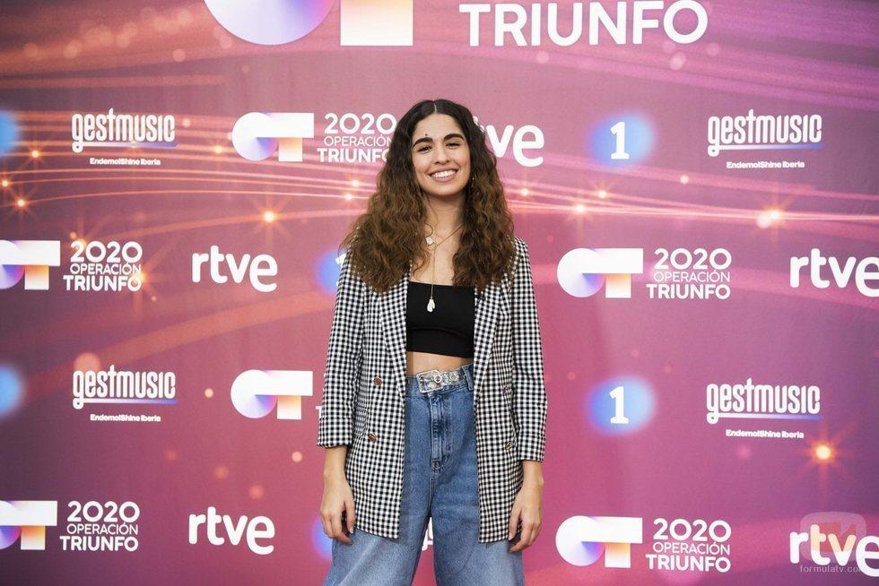 Anaju posa en la rueda de prensa de 'Operación Triunfo 2020'
