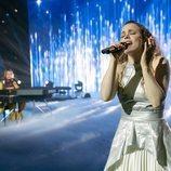 Sigrit y Lars en el escenario de 'Festival de la Canción de Eurovisión: La historia de Fire Saga'