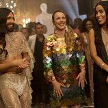 Conchita Wurst y Loreen con Rachel McAdams en 'Festival de la Canción de Eurovisión: La historia de Fire Saga'