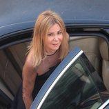 Ana Obregón en el funeral de su hijo Álex Lequio