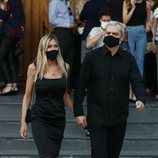 Ramón García y Patricia Cerezo en el funeral de Álex Lequio