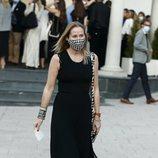 Fiona Ferrer en el funeral de Álex Lequio