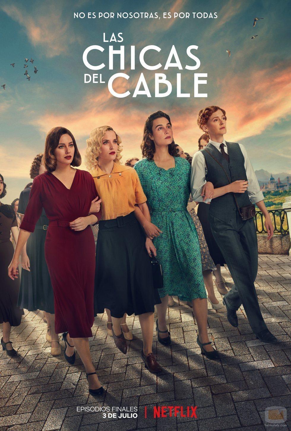 Póster de la temporada final de 'Las chicas del cable'