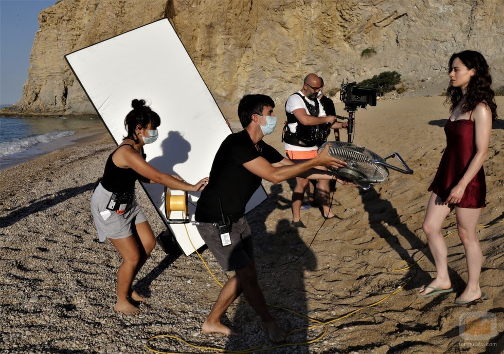 Elena Rivera, rodando una una escena de 'Alba'