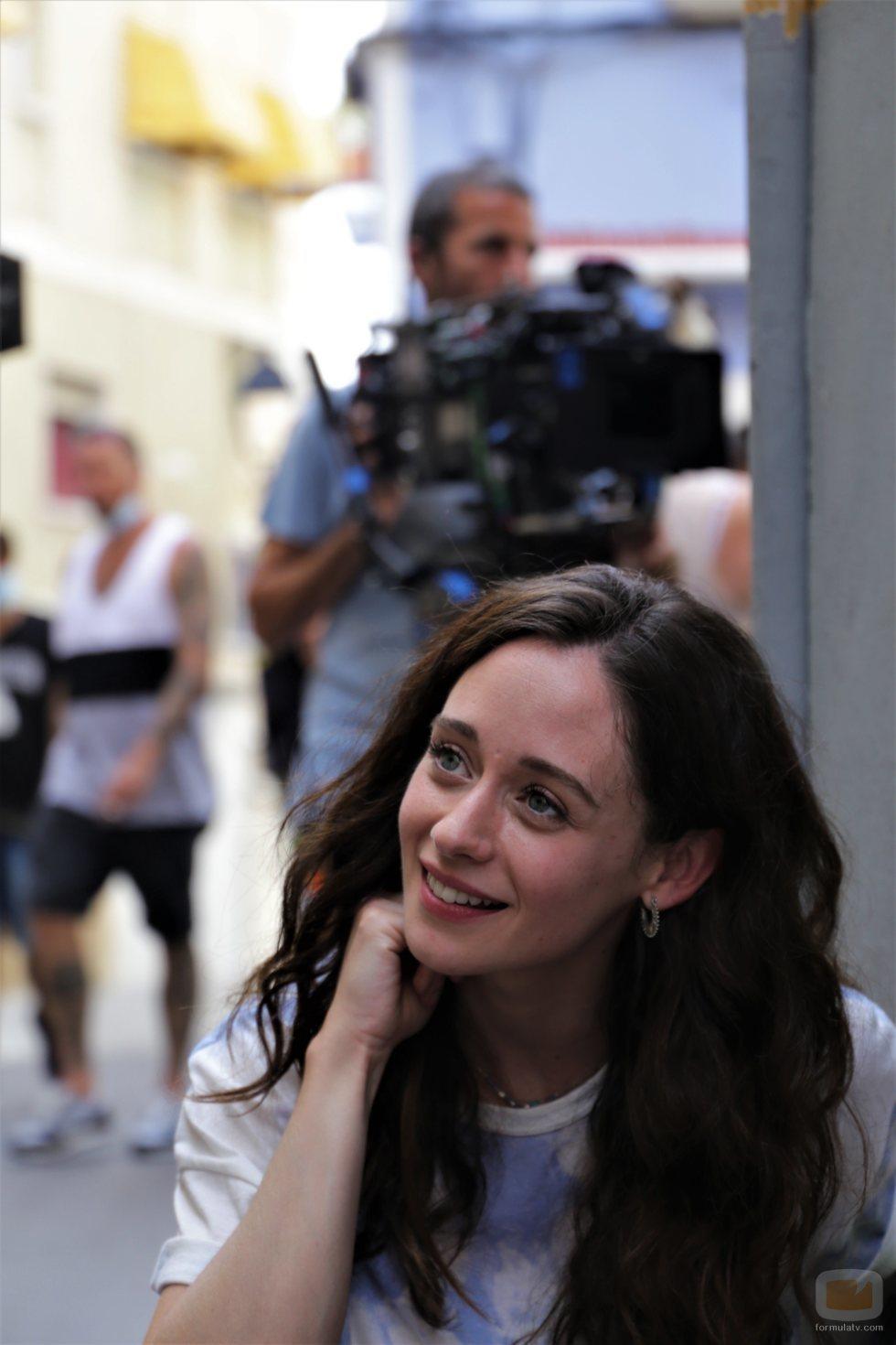 Elena Rivera, durante el rodaje de 'Alba'