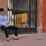 Álvaro Rico, en el rodaje de 'Alba'