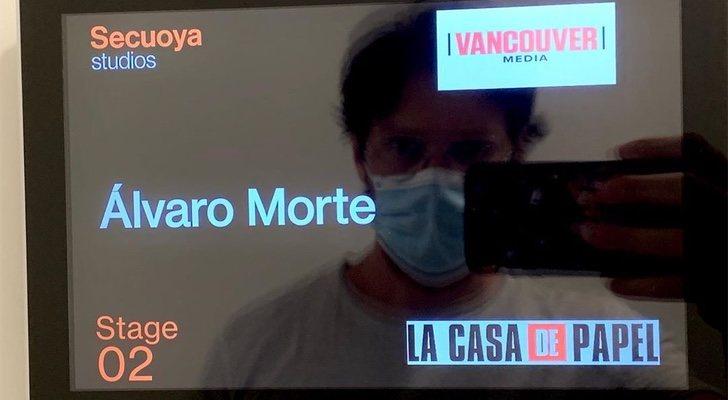 Álvaro Morte dans le tournage de la cinquième partie de 'La Casa de Papel'