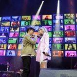 Flavio y Samantha, en el concierto de 'OT 2020'