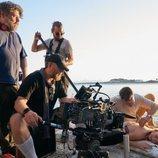 Armie Hammer y Lily James en el rodaje de 'Rebecca', de Netflix
