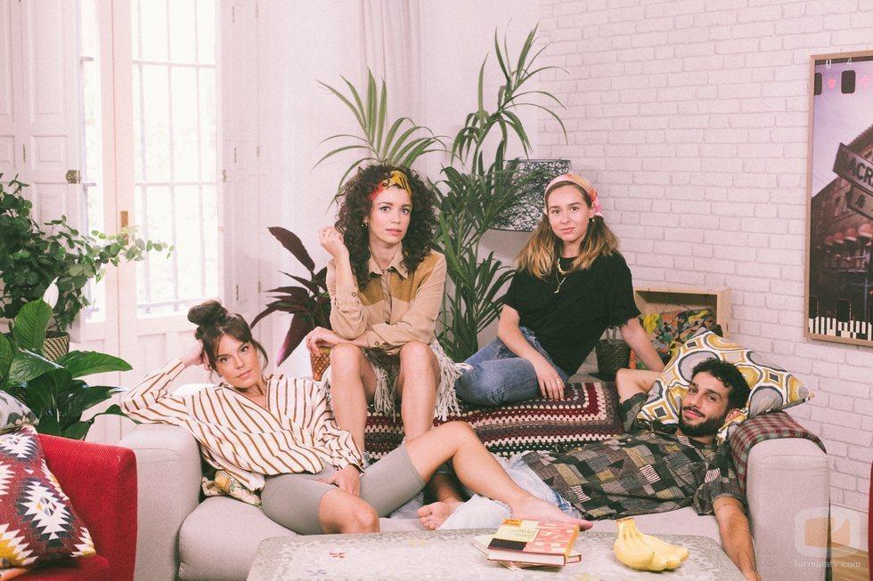 María, Amelia, Luisita e Ignacio en la segunda temporada de '#Luimelia'