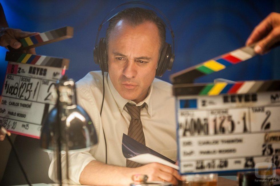 Javier Gutiérrez en el rodaje de 'Reyes de la noche'