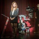 Itsaso Arana en el rodaje de 'Reyes de la noche'