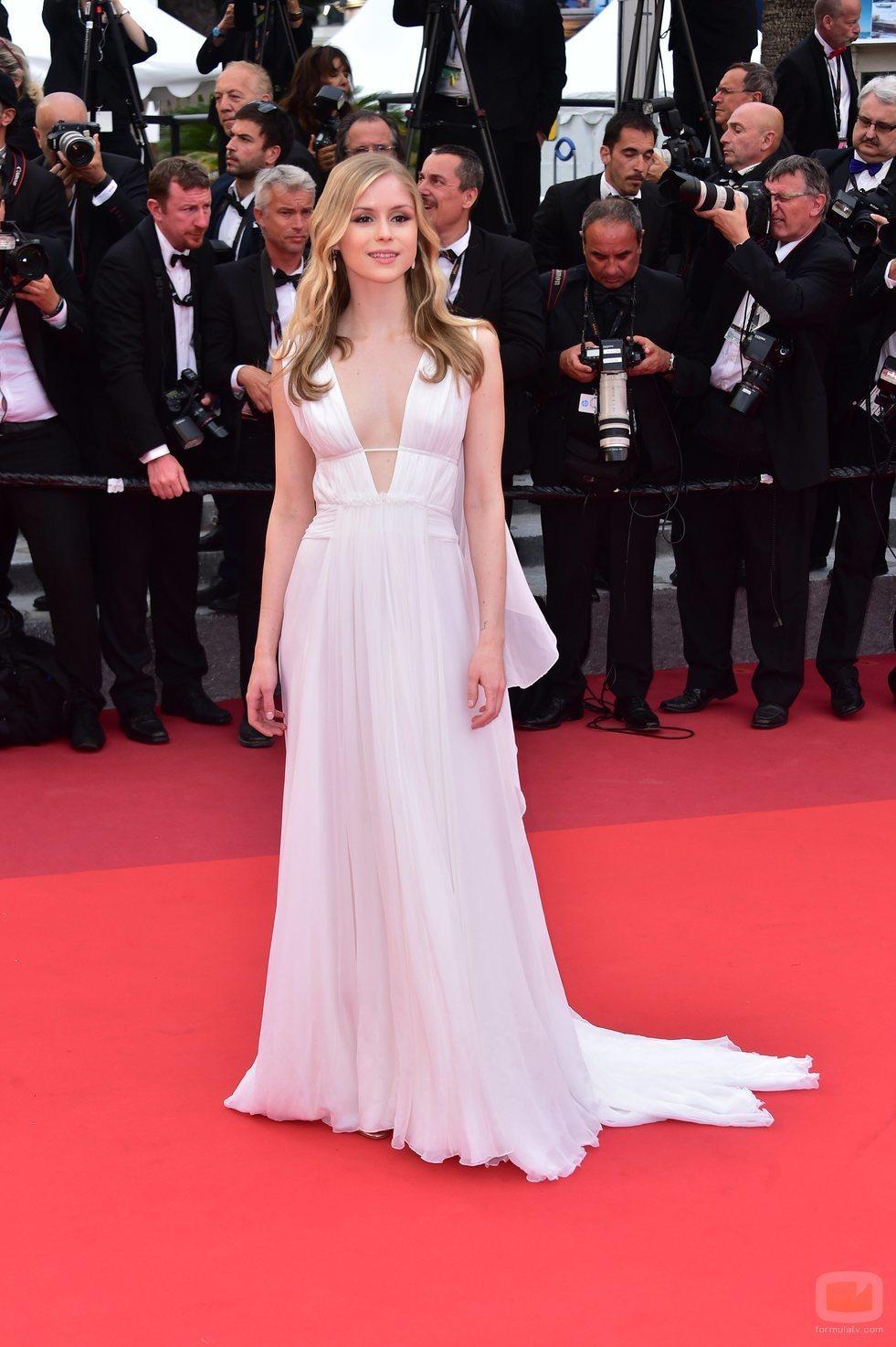 Erin Moriarty, en la gala del Festival de Cannes 2016