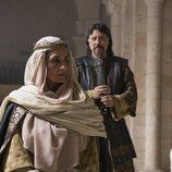 Elia Galera y Carlos Bardem, en 'El Cid'