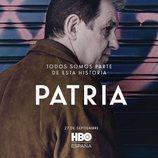 José Ramón Soroiz como Txato en el póster de 'Patria'
