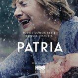 Elena Irureta y José Ramón Soroiz como Bittori y Txato en el póster de 'Patria'