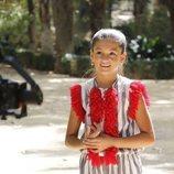 """Soleá, muy sonriente durante la grabación del videoclip de """"Palante"""""""