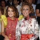 Anabel Dueñas y Rocío Carrasco en un desfile de moda