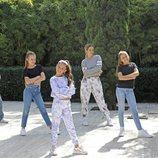 Vicky Gómez junto a Soleá y sus bailarines para Eurovisión Junior 2020