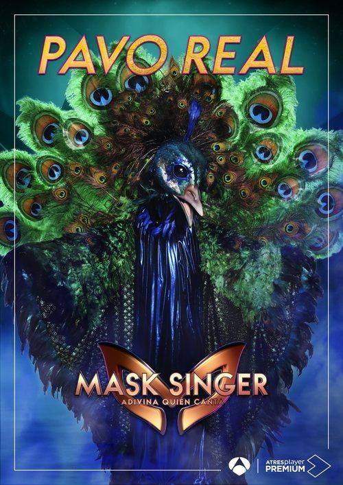 La máscara de Pavo Real en 'Mask singer: adivina quien canta'