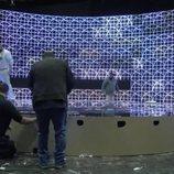 Detalle lateral del escenario de España para Eurovisión Junior 2020