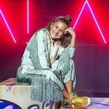 Soleá sobre el escenario de Eurovisión Junior 2020