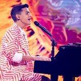 Petar Anicic, representante de Serbia, en la Gran Final de Eurovisión Junior 2020