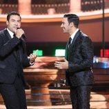 Jorge González es Carlos Rivera en la Gala 12 de 'Tu cara me suena 8'