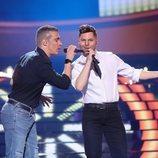 Gemeliers son Ricky Martín y Eros Ramazzotti en la Gala 12 de 'Tu cara me suena 8'