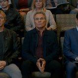 Johnny Lawrence, John Kreese y Daniel LaRusso en la tercera temporada de 'Cobra Kai'