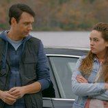 Daniel y Samantha LaRusso en la tercera temporada de 'Cobra Kai'