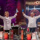 Raquel Meroño y Florentino Fernández, al final de su duelo en 'MasterChef Celebrity 5'