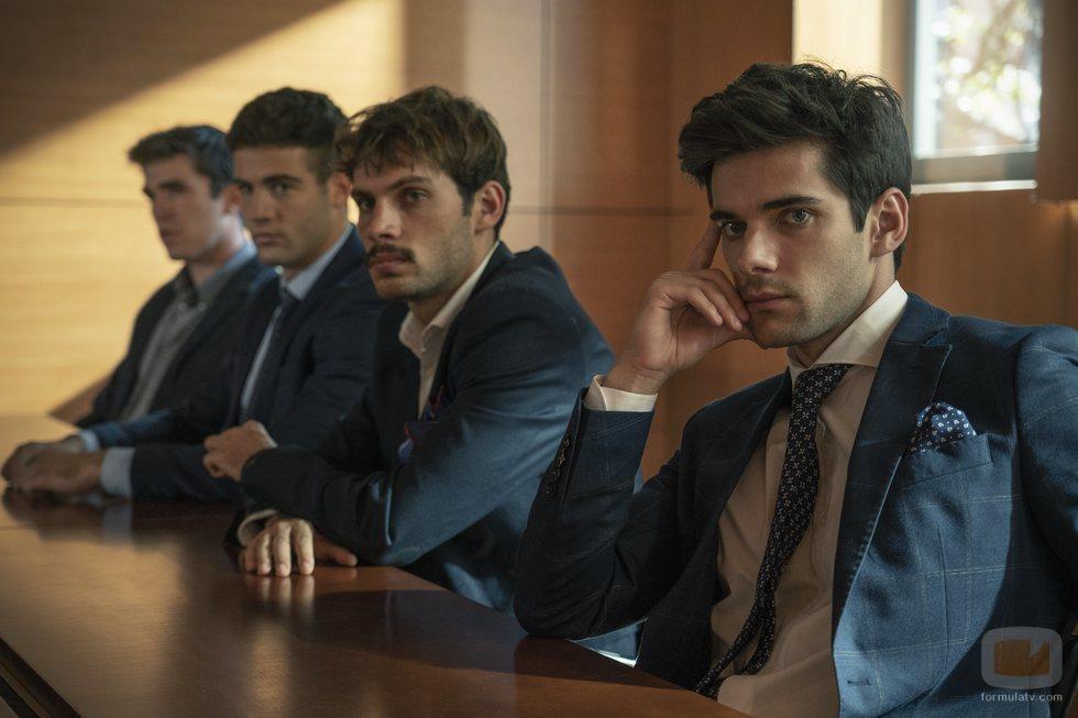 Álvaro Rico, Pol Hermoso, Jason Fernández y Eric Masip en 'Alba'