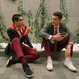 Omar Ayuso y Arón Piper rodando la cuarta temporada de 'Élite'