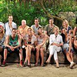 Foto de grupo de los concursantes de 'Supervivientes 2009'