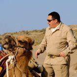 Pepón Nieto con un camello