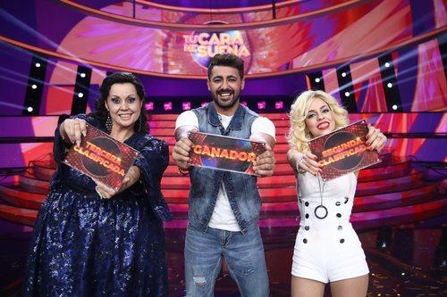 Cristina Ramos, Jorge González y Nerea Rodríguez, el top 3 de la final de 'Tu cara me suena 8'