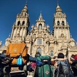 Los protagonistas de '3 caminos' llegan a la Catedral de Santiago