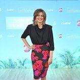 Sandra Barneda posa en la rueda de prensa de 'La isla de las tentaciones 3'