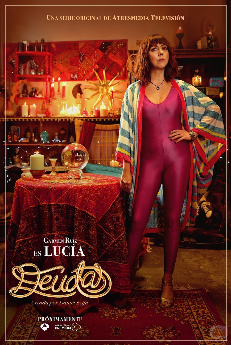 Cartel de Lucía en 'Deudas'