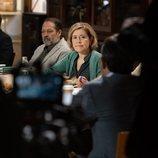 María Pujalte, en el rodaje de 'Merlí: Sapere Aude 2'