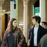 Claudia Vega y Pablo Capuz, en el rodaje de 'Merlí: Sapere Aude 2'