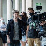 Carlos Cuevas, en el rodaje de 'Merlí: Sapere Aude 2'