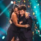 Blas Cantó se abraza con Nia Correia en 'Destino Eurovisión'