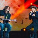 Blas Cantó con Andrés Suárez en 'Destino Eurovisión'