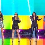 Alba, Mirela, Lydia Fairen y Lucía Estrella en 'Destino Eurovisión'