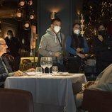 Stanley Tucci, Alejandro Amenábar y Clarke Peters en el rodaje de 'La Fortuna'